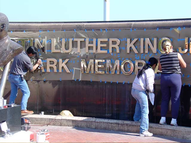 Restoration of Martin Luther King Memorial for City of West Palm Beach