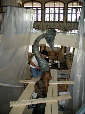 Restoration of 17-feet tall sculpture for a private collector
