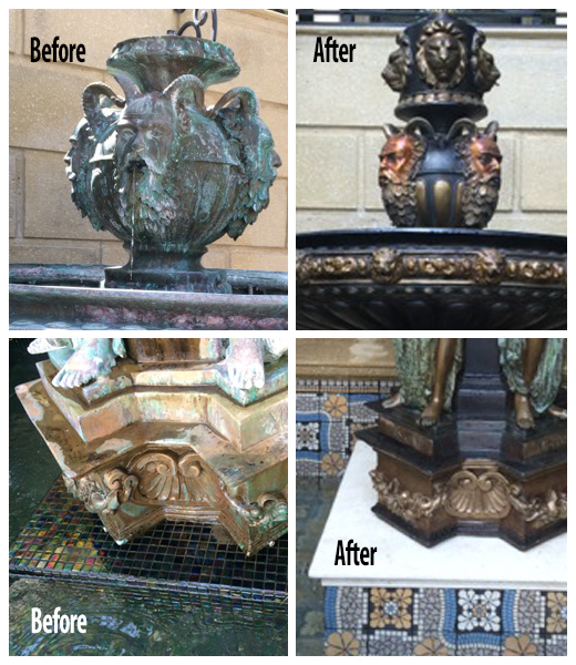 Restoration of Four Rivers Fountain: before & after
